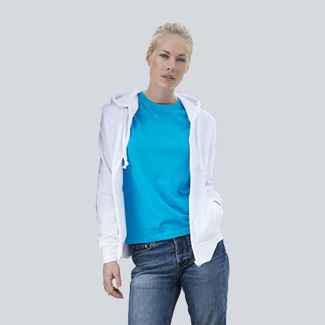 344a0fdc2a984e Felpa Modello Basic Hoody Full Zip Woman | grafikadesio | agenzia ...